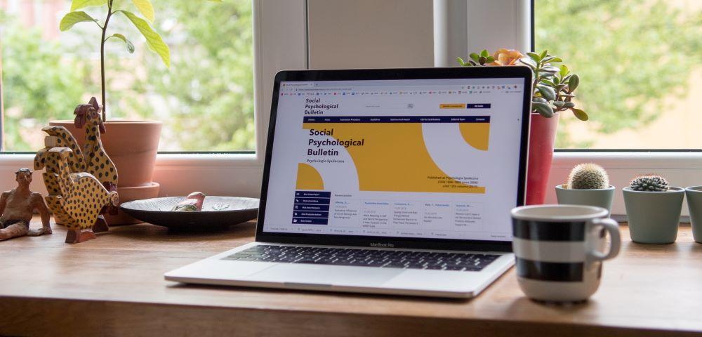 a business's website on a laptop
