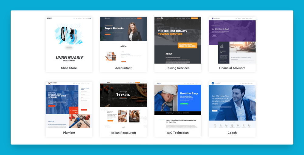 website templates for businesses
